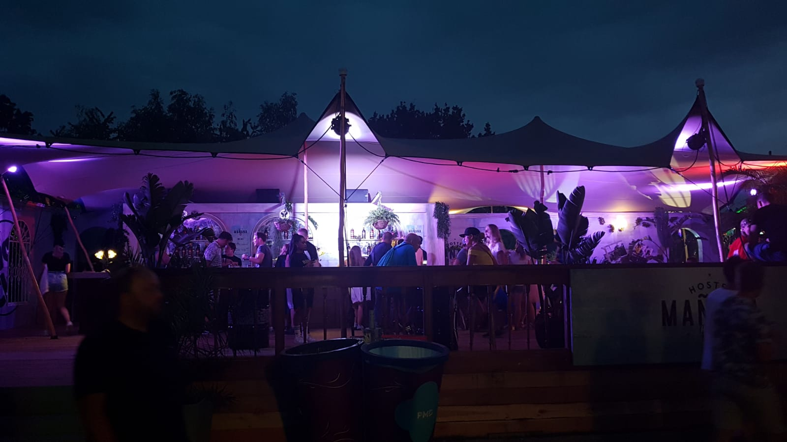 Festival partytent zomer